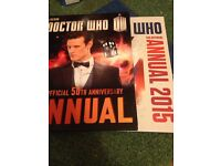 Doctor who official annuals 2013&2015