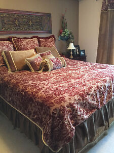 King Bedding & Drapes