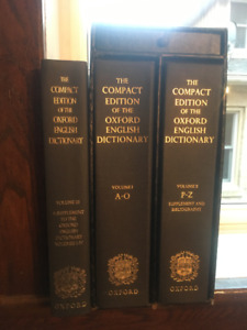 The Compact Edition of the Oxford English Dictionary