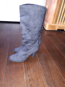 Blk slouchy boots