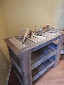 rustic barn wood antique furniture tv bookshelf bar