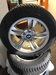 Snow tires 235/55r17 Continental Wintercontact SI on BMW Rims