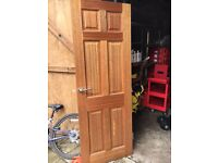 2 x Internal doors 27 x 77 with hinges and handles
