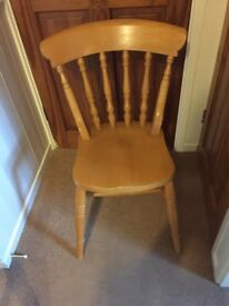 Single Pine Chair