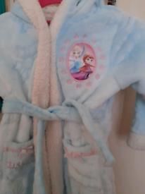 Girls frozen dressing gown