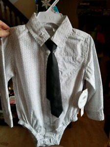 Boys 18-24 month dress shirt and tie set