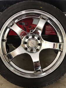 Mag wheel with brand new tires