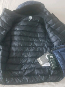 Roots boots and mens down jacket.