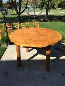 Natural wood rustic dinning table 6 chair  Stratford Kitchener Area image 5