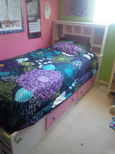 Twin bed w/shelves (mate's bed)
