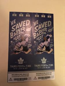 Toronto Maple Leaf Tickets February 9th - Platinum Club Access