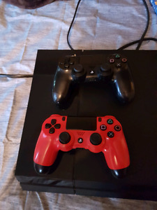 Ps4 with 2 controllers 10 games to trade for x box 1
