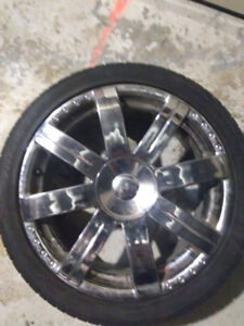 Rizzi 18 inch chrome rims with new  tires.