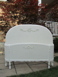 White Antique Double Bed
