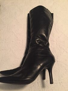 Genuine leather Nine West dress boots.