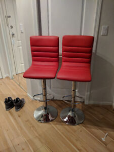 Red Modern Bar Stools