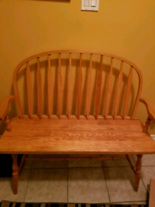 Solid Oak Entrance way Bench