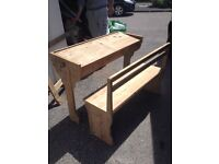 Desk and bench old £70