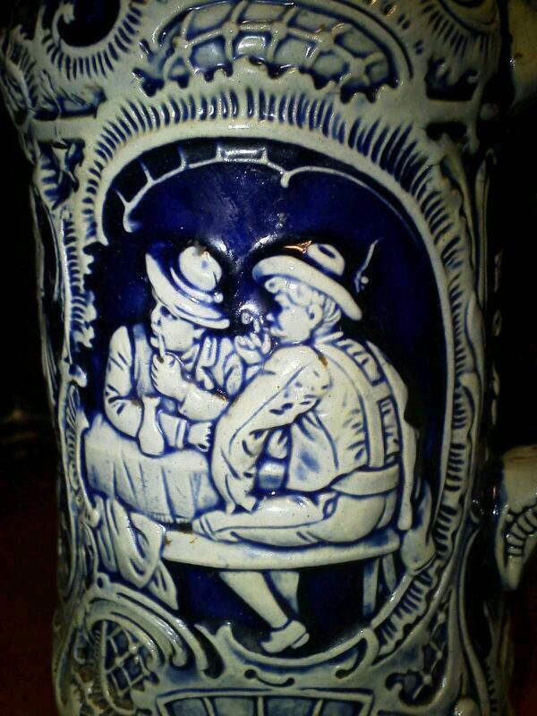 German Thewalt Auf Der Alm Stein Cobalt Stoneware Salt