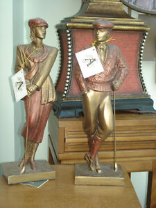 Austin Sculptures - Female and Male Golfer Ornament