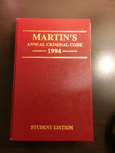 Martin's Annual Criminal Code (1994) - hardcover - only $2