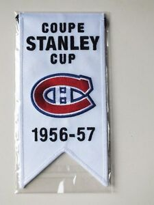 CENTENNIAL STANLEY CUP 1956-57 BANNER MONTREAL CANADIENS HABS