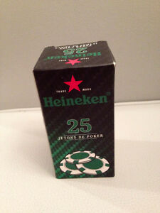 Heineken Poker Chips - NIB