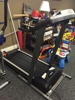 Bike, treadmill and Elliptical