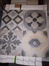 1m2 job lot £10 retro colour mix tile 30x30cm