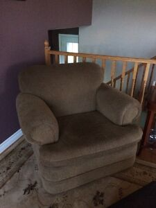 small couch and chair