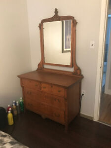 Antique Dresser Tiger Oak