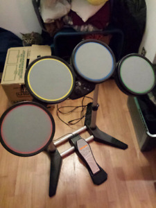 PS3 Rockband drums and KICK DRUM PEDAL THE BEATLES EDITION METAL