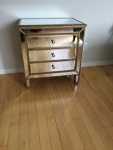 Meuble Miroir 3 Tiroirs ** Mirror 3 Drawer Dresser / Nightstand