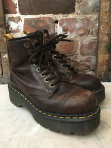 Women's Size 8 Made In England Chocolate Brown Dr. Marten's