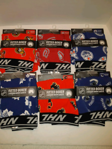 NHL Hockey Team Fitted Boxers 6 teams available