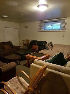 1 Bedroom & Den Furnished basement suite on an Acreage, Okotoks