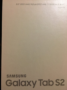 """Samsung Galaxy Tab S2, 8.0"""", 8-core, 32GB with Case (Brand New)"""