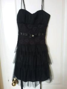 Mini Spaghetti Strap Black Dress