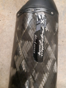 Two brothers racing exhaust black addition