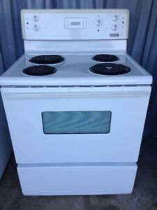"FREE delivery, 30"" white Coil Top Stove"