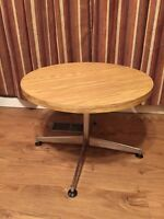 Vintage, Small, Round, Blonde Coffee Table