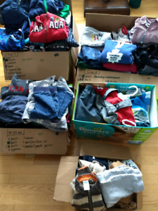 Boys clothes!  Less than $1 per item!