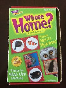 Whose Home? Domi-Knows Kids Game Strathcona County Edmonton Area image 1