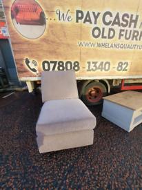 Grey fabric occasional armchair £40