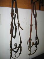 Antique Silver Bits w Headstalls