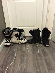 2 pairs of good snowboard boots