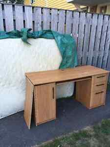 Free double mattress and desk