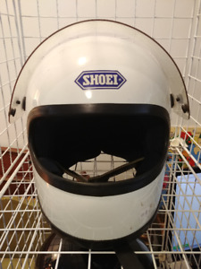 Casque moto Shoei vintage S-12 made in Japan 1980 T.: M - blanc