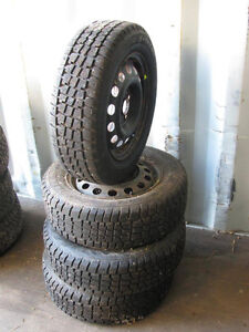 185/65R14 Avalanche X-treme Winter Tires With 4 Bolt Rims