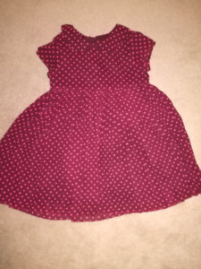 H&M POLKA DOT DRESS SZ 2-3T!!